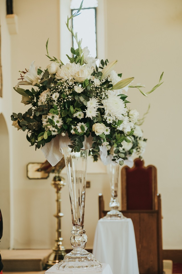 Floral Arrangement at altar