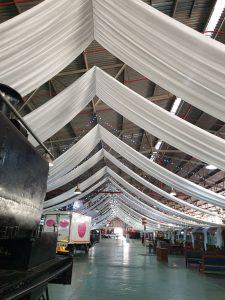 2020 Kwagga Lang Tafel te Trein Museum George Drapering en Ligte