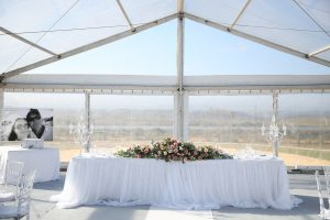 Silk Floral Arrangment Bridal Table