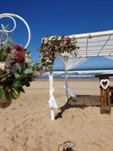 Gazebo With Floral Arrangment